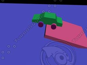 maya dynamically toy car