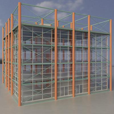 3d building structure