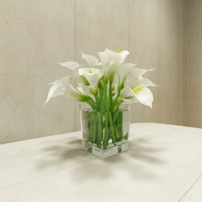 3d model contemporary flower
