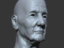 Old Man Head (Polygonal Version)