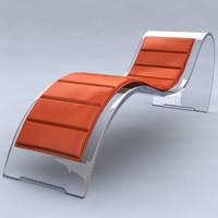 max mc1 glass reclining chair