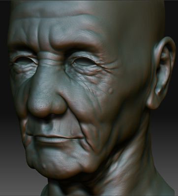 3ds max head old man zbrush