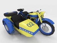 3d police bike russian