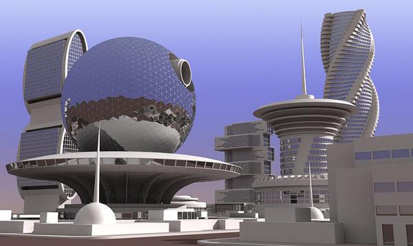 future city block 01 3d max