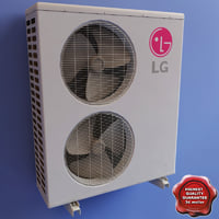 air conditioner lg v2 3d model