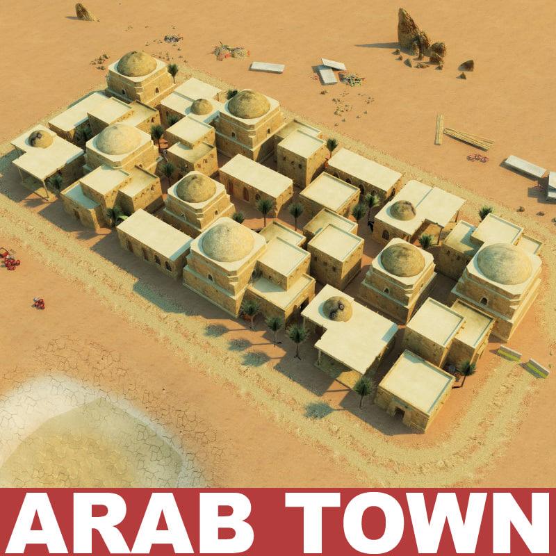 arab town 3d max