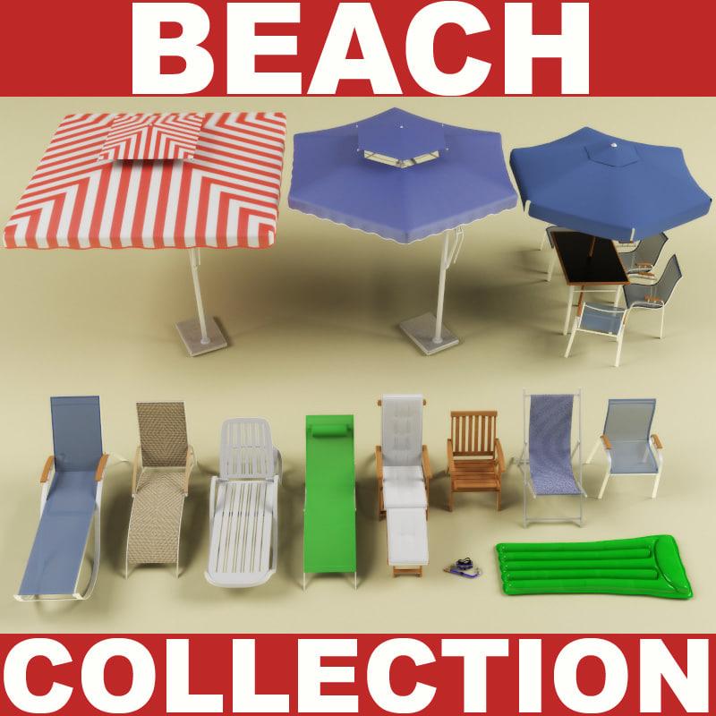 3dsmax beach modelled chair