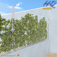 3d model of chain link fence