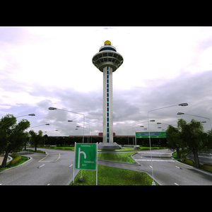 3d changi control tower