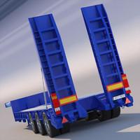 3d gooseneck trailer model