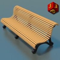 3d garden street bench