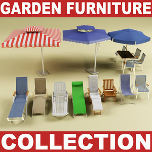 3d model of garden furniture vol 2