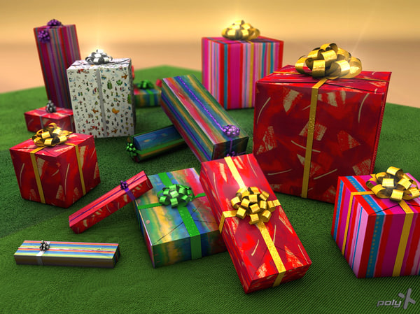gift boxes c4d