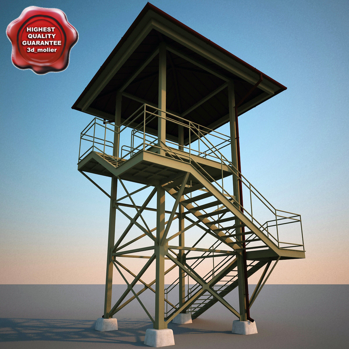 guard tower v1 3d c4d