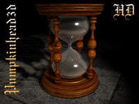 hourglass hour glass 3d c4d