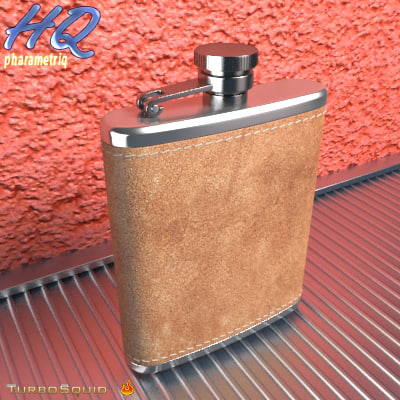 hip flask 04 3d model