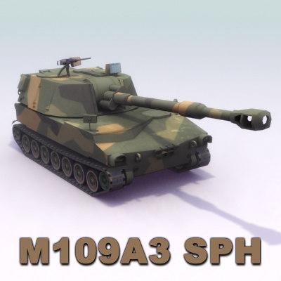 3d m109a3 155mm m109