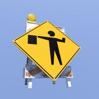 accessories road signs 3d model