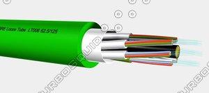 optical fibre dq-line loose 3d model