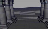 3d model medieval pillar
