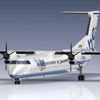3d q400 bombardier airliner model