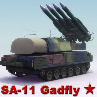 3d sa-11 gadfly launcher