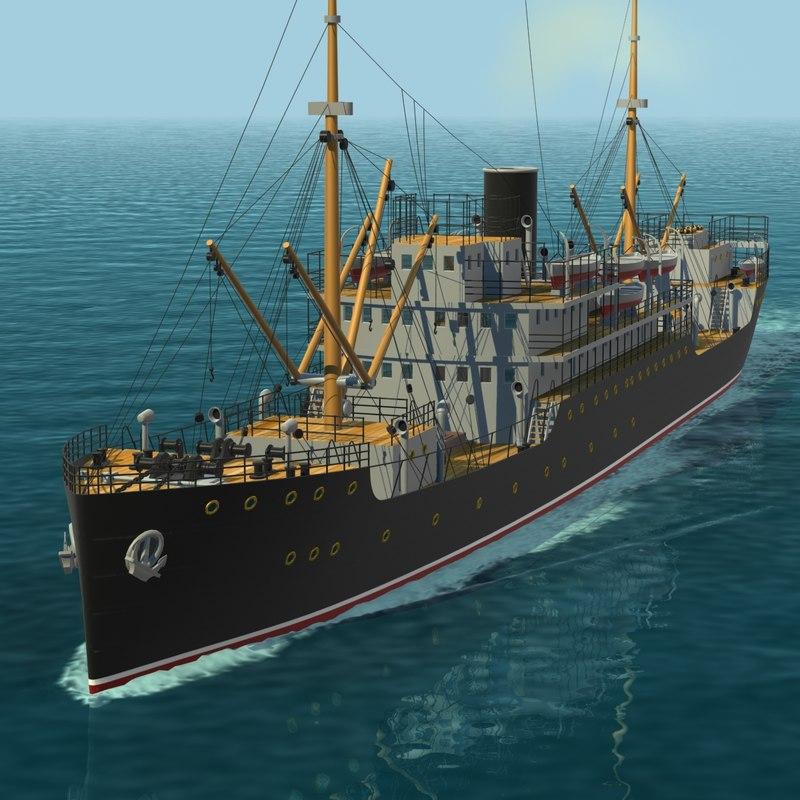 cargo ship 3d lwo