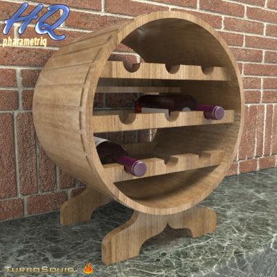 3d wine holder 01