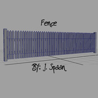 3d ma wooden fence