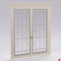 glass door 3d 3ds