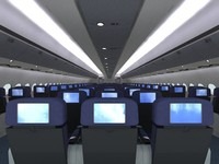 3d airplane interior model