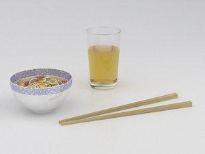3d asian food model