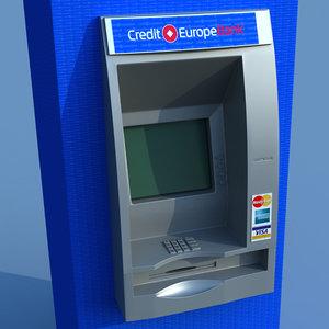 3ds max atm cash machine