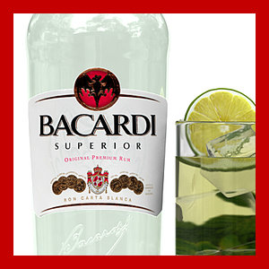 3d bacardi mojito glass model