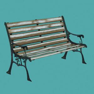park bench 3d ma