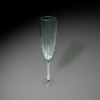 3d champagne glass