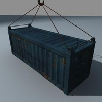 3d model sea container