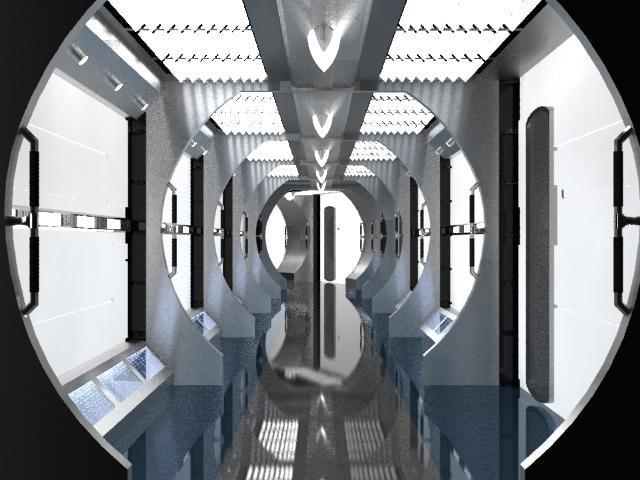 enterprise nx-01 corridor 3d model