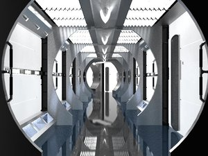 enterprise nx-01 corridor 3d model