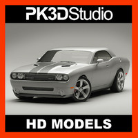 3d model dodge challenger