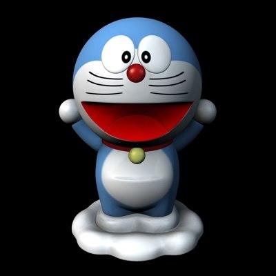 cat doraemon 3d model