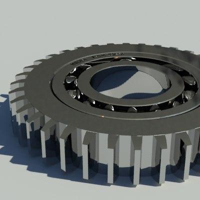 gear bearing 3d 3ds