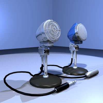 3ds max vintage microphone 02