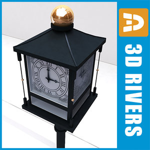 3ds street clock old 01