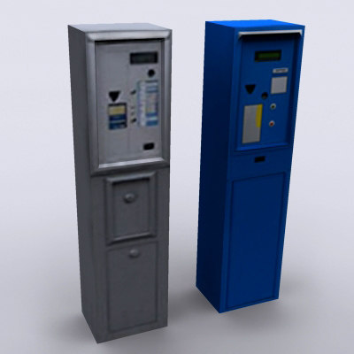 free parking meter 3d model