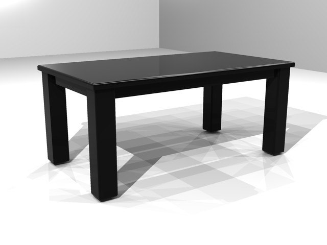 3d office furniture table