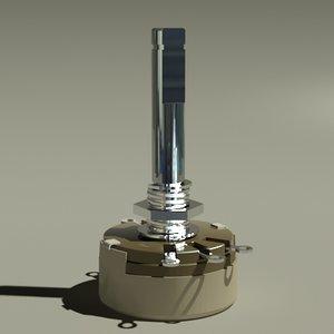 potentiometer variable resistor 3d model