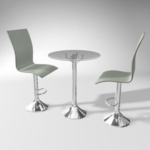 pub table 3d 3ds