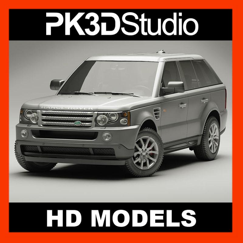 3d land range rover sport model