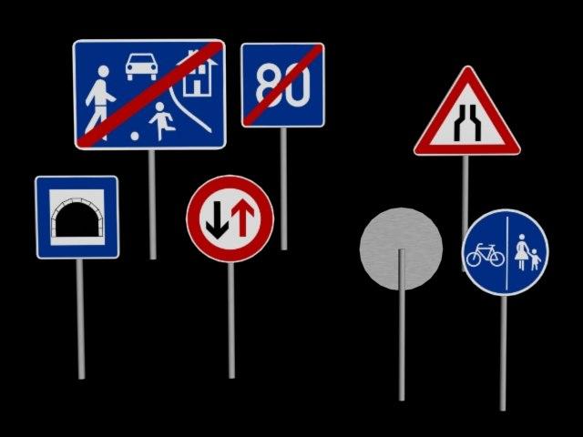 3d model street signs